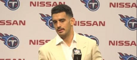 Mariota was the second overall pick by the Titans in 2015. - [Tennessee Titans / YouTube screencap]