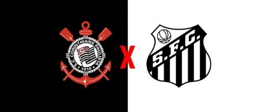 Corinthians x Santos ao vivo. (Foto: Montagem/ Diogo Marcondes)