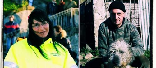 Romina Meloni, nella foto a sinistra, è stata uccisa dall'ex Ettore Sini (nella foto a destra).