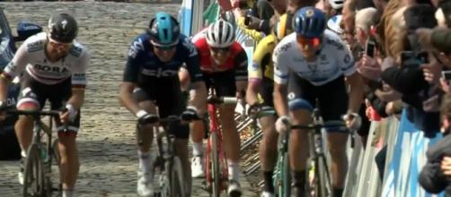 Sagan e Trentin in fuga alla Gand-Wevelgem.