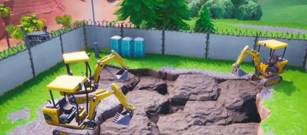 new leaks reveal digging site at dusty divot source in game screenshot - excavation site fortnite