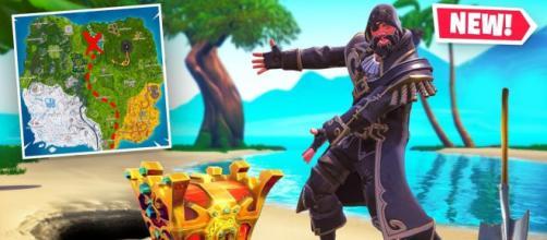 Fortnite is getting a treasure map item. [image credits: Muselk/YouTube screenshot]