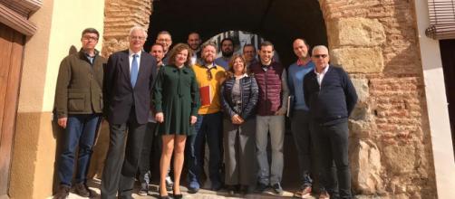 Miembros de Demòcrates Valencians durante el Consell Polític en Pego