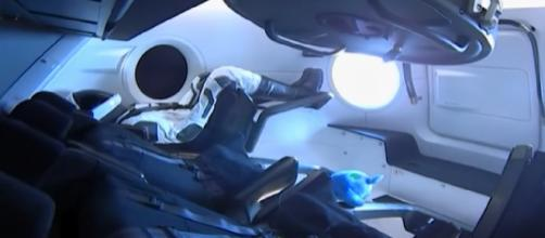 SpaceX Crew Dragon docks at International Space Station. [Image source/Global News YouTube video]