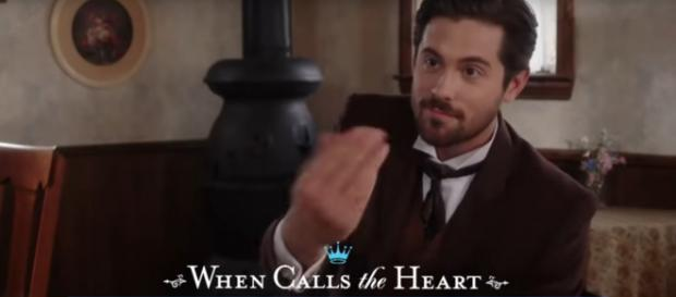 Chris McNally gets a mixed reception as Lucas Bouchard on When Calls the Heart. [Image source:TVPromos-YouTube]