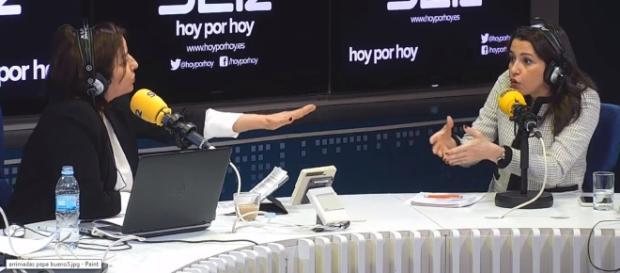 Pepa Bueno e Inés Arrimadas en imagen