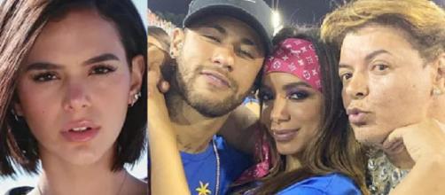 Anitta, Bruna Marquezine e Neymar em polêmica (Foto: Reprodução/ Instagram)