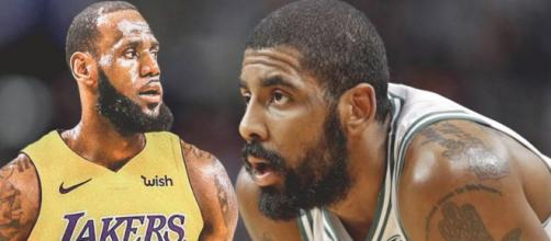 Former teammates LeBron and Kyrie continue their struggles with new teams as well as fan and media pressure. [Image via WavyHoops/YouTube]