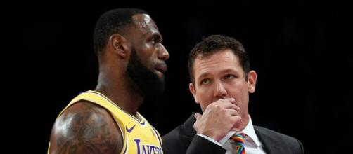 "Luke Walton will ""almost certainly"" be fired after the Lakers' 2018-19 season, per NY Times. [Image via NBA/YouTube]"