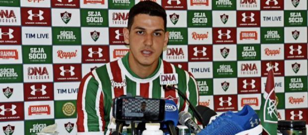 Nino foi apresentado pelo Flu nesta terça-feira. (Foto: Divulgação/Mailson Santana/FluminenseFC)