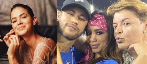 Anitta, Bruna Marquezine, David Brazil e Neymar (Reprodução Instagram)