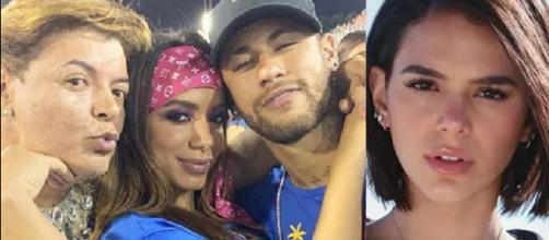 Anitta, Bruna Marquezine e Neymar envolvidos em polêmica. (Foto: Reprodução/Instagram)