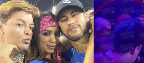 Anitta e Neymar são flagrados em vídeo se beijando (Reprodução Instagram)