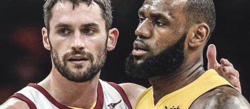 Former Cavs teammates including Kevin Love weighed in on LeBron's situation in LA. [Image via The Hoops Report/YouTube]