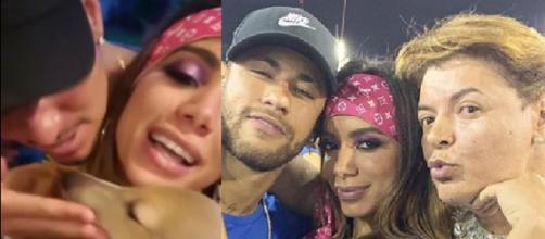 Medina, Anitta e Neymar no Carnaval (Reprodução Instagram)