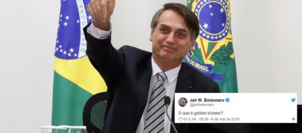 Bolsonaro usa conta do Twitter para fazer pergunta indiscreta (Reprodução Twitter)