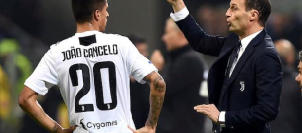 Juventus, Cancelo bocciato da Allegri