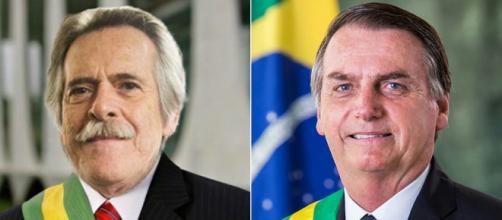 Bolsonaro e José de Abreu trocam farpas na internet - (Twitter/Reprodução/Alan Santos/PR)