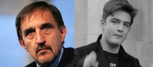 Ignazio La Russa a sinistra, suo figlio Leonardo Apache a destra.