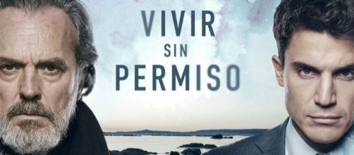 José Coronado y Álex González en Vivir sin permiso