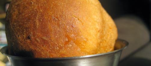 La ricetta del babà salato farcito con le creme di burrata e di basilico.
