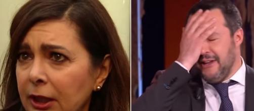 Laura Boldrini e Matteo Salvini: prosegue il rapporto di scarsa simpatia