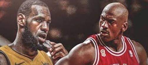 LeBron James passed Michael Jordan on the NBA's all-time scoring list on Wednesday night. [Image via TicketTV/YouTube]