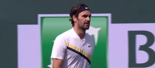 Roger Federer was a runner-up at Indian Wells in 2018. Photo: screencap via Tennis TV/ YouTube