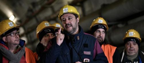 Matteo Salvini in visita al cantiere del Tav