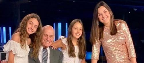 Veruska, Ricardo Boechat e suas filhas (Foto: Reprodução/ Instagram)