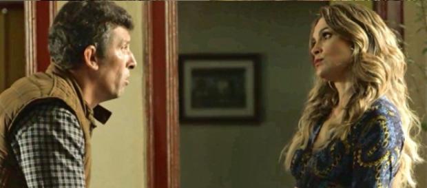 Joubert e Rita de Cássia em O Sétimo Guardião. (Foto: Reprodução/TV Globo)