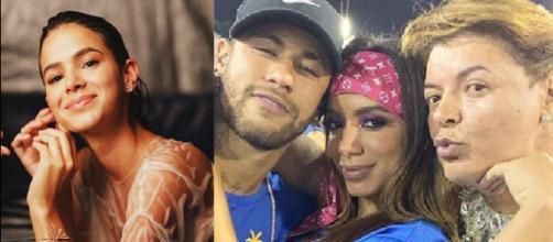 Bruna, Neymar, Anitta e David Brazil. (Foto: Reprodução/Instagram)