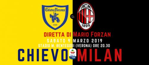 Diretta Serie A: Chievo - Milan dal Bentegodi di Verona