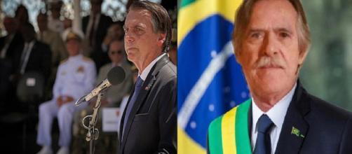 O atual presidente Jair Bolsonaro ameaça procesar José (Foto: Montagem Twitter e Instagram)