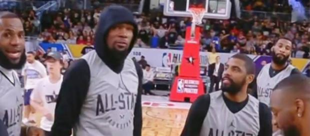 Kevin Durant and Kyrie Irving could potentially team up with the Knicks next season - [image credit: NBA/Youtube]