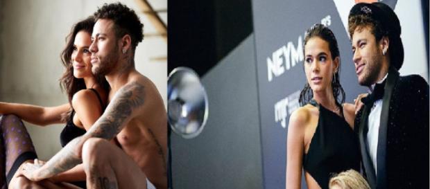 Mesmo após o término do namoro Neymar não deletou as fotos com Marquezine (Foto/Montagem: Instagram)