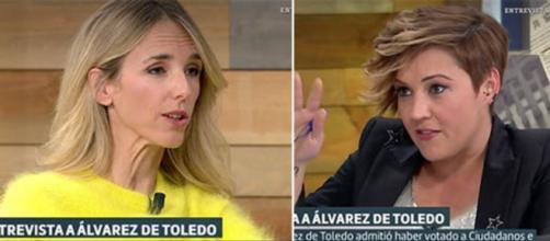 Cayetana Álvarez de Toledo y Cristina Pardo