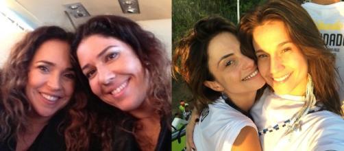 Daniela Mercury com Malu Verçosa e Priscila Montandon com Fernanda Gentil (Reprodução/Instagram/@danielamercury/@gentilfernanda)