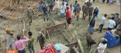 Nepal é devastado por temporal. (Reprodução/Rede Globo)