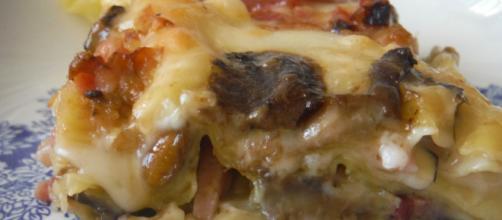 Ricetta Lasagna speck e funghi.