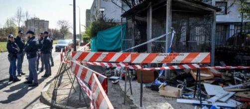 Via Cascina dei Prati alla Bovisasca, dov'è stato rinvenuto il corpo decapitato.