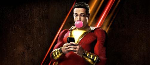 Zachary Levi no poster do filme 'Shazam!'. (Divulgação/ Warner)