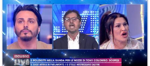 Lite a Live non è la D'Urso sulle nozze di Tony Colombo: Barbara interrompe il dibattito