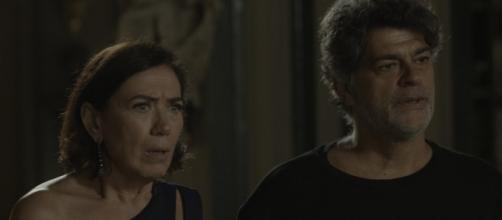 Murilo e Valentina tentarão proteger o casarão. (Reprodução/Rede Globo)