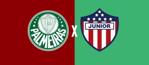 Palmeiras x Junior ao vivo na TV aberta e fechada. (Fotomontagem/Diogo Marcondes)