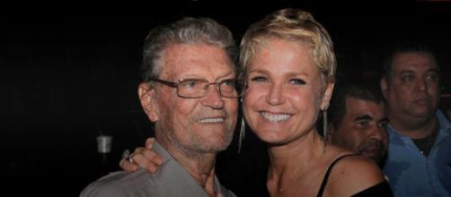 Xuxa Meneghel e o pai, Luis Floriano (Arquivo Blasting News)