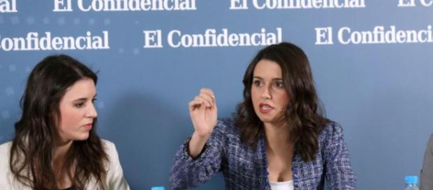 Irene Montero e Inés Arrimadas en imagen