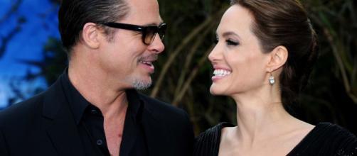 Angelina Jolie e Brad Pitt ai tempi del loro matrimonio.