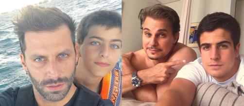 Henri Castelli e Lucas Castelli, Edson Celulari e Enzo Celulari. (Reprodução/Instagram/@edsoncelularireal/@henricastelli)