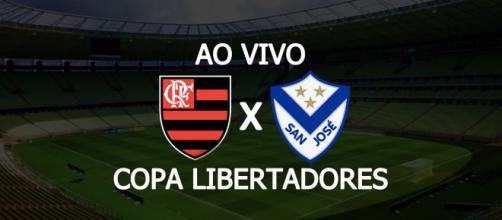 Flamengo x San José ao vivo pela Libertadores. (Fotomontagem/Diogo Marcondes)